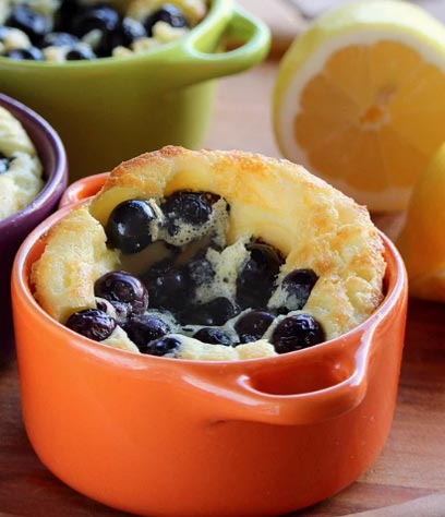 Blueberry Popovers